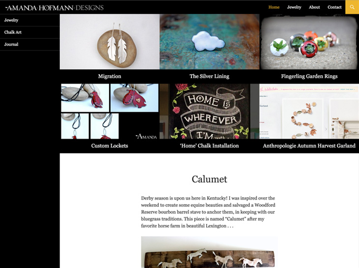 Amanda Hofmann Designs Website Design
