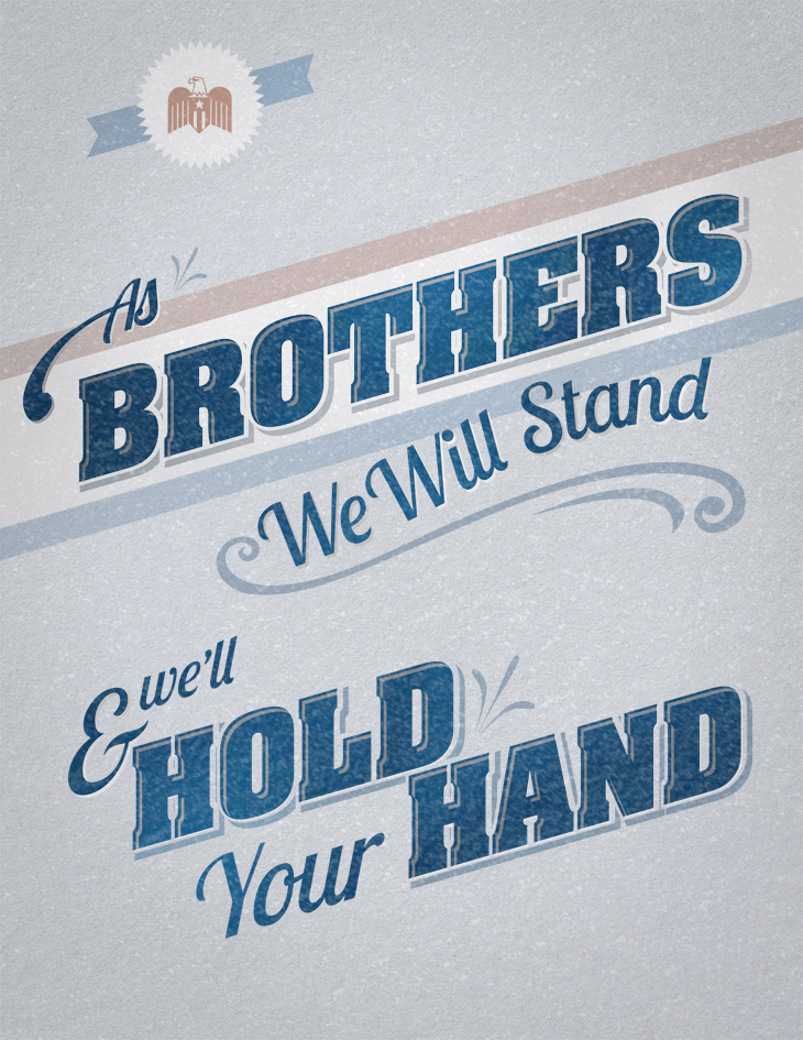 As Brothers We Will Stand Poster Design