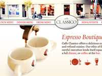 Caffe Classico Website Design