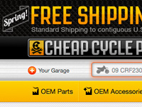 CheapCycleParts.com Website Application
