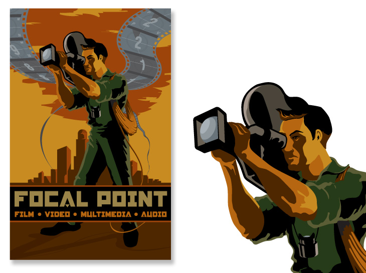 Focal Point Video Poster Illustration