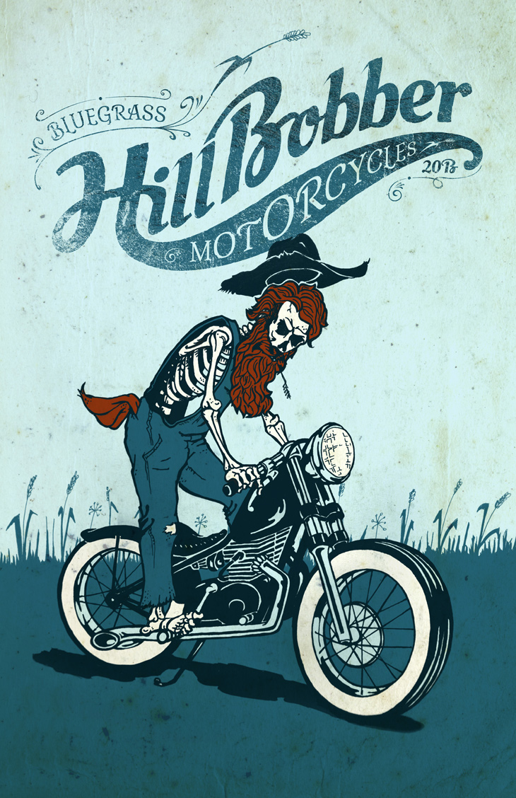 Bluegrass Hill Bobber Motorcycles Poster
