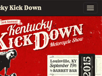 Kentucky Kick Down Responsive Design