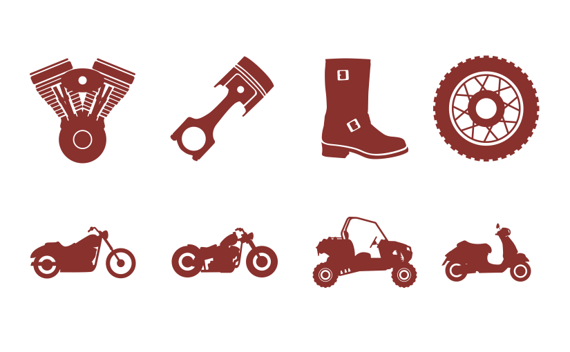 Motorcycons – An Icon Font for the Powersports Industry